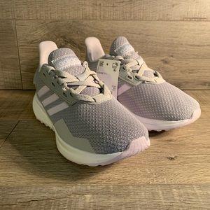 Adidas Duramo 9K Kids Running Shoes Grey Pink